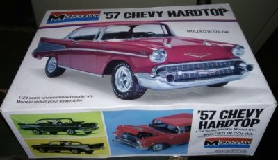 '57 Chevy Hard Top model car