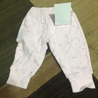 Pink pants with flowers size 6/9 months