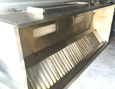 10 ft commercial Stainless steel vent hood with exhaust