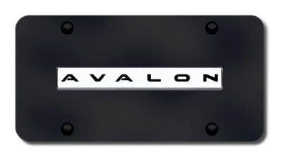 Find Toyota Avalon Name Chrome on Black License Plate Made in USA Genuine motorcycle in San Tan Valley, Arizona, US, for US $33.38