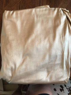Two Pottery Barn Gold Silk Curtains