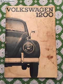 AUG 1962 VW Beetle Owners Manual Guide