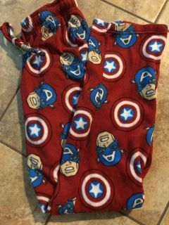 Marvel Captain America Red Soft Pj s Pants. Nice Condition. Size Small