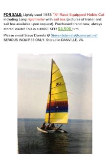 Hobie Cat - For Sale Classified Ads - Claz org