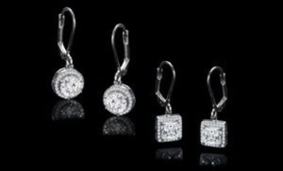 ***REDUCED***BRAND NEW***Halo Drop Earrings Set Made With Swarovski Stones***
