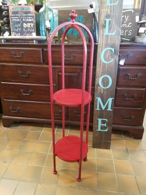 Red plant stand shelf $45