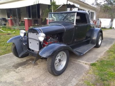 1930 Ford Model A Roadster, Has Fiberglass Body