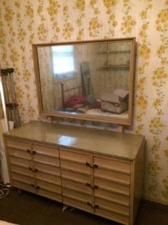 Reduced....Mid Century Modern Dress/Mirror and Chest of Drawers