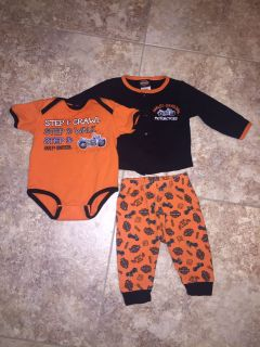 Baby Boys Harley Davidson Outfit