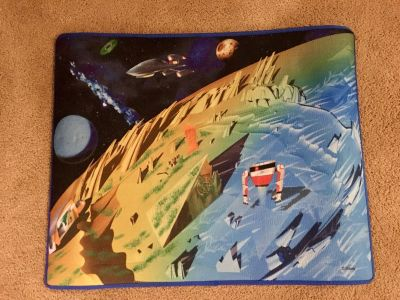 Miles from Tomorrowland space rug 24 x 30 . Pick up in the meadows. Xposted.
