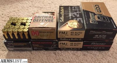 For Sale: Lot of .45acp ammo