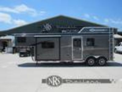 2019 Bison 2 Horse Living Quarters Trailer with Slide Out 2 horses