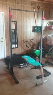 Bench/Squat/Pull Up Rack (Weights & Bar Included)