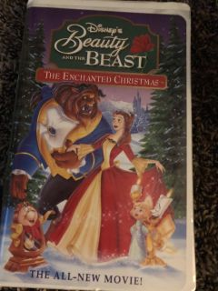 Beauty And The Beast Magical Christmas Walt Disney Masterpiece VHS Tape