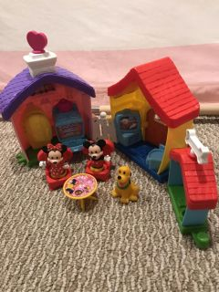 Little people Disney Mickey Minnie and Pluto House EC