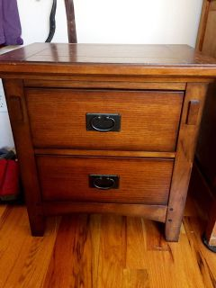 Mission Style Bedside Table