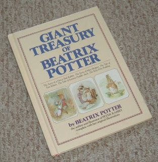 Vintage 1984 Giant Treasury of Beatrix Potter Over Sized Hard Cover Book