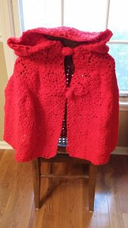 Little Red Riding Hood Cape - Crocheted