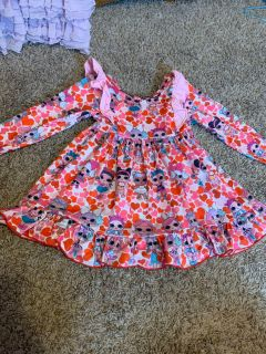 Size 3T LOL doll dress from the ruffled rose boutique