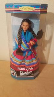 Collectible Peruvian Barbie with Baby. New in Box.