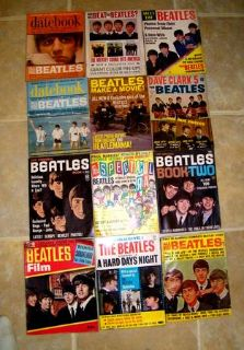 Large Lot Of Beatles 1964 Magazines Full Of Photos Posters