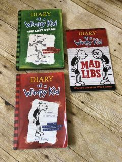 Diary of a Wimpy Kid lot 1 new hardback, 1 new mad libs and 1 used soft-back book $5