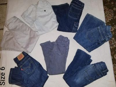 Mixed Size 6 boys pants and jean lot