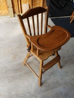 Refinished old highchair