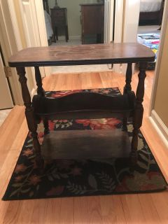 Rectangle wood side table