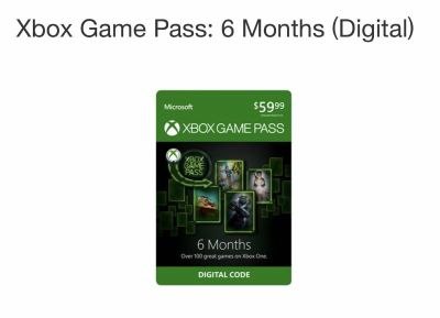 Xbox 6 months game pass card