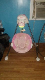 Fisher Price cradle swing butterfly sparkle papasan brand. Everything works has cord $25 FIRM