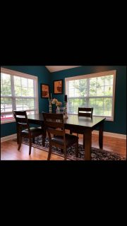 Beautiful wood dining table with 4 chairs