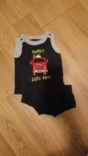 Fire truck outfit-3 months
