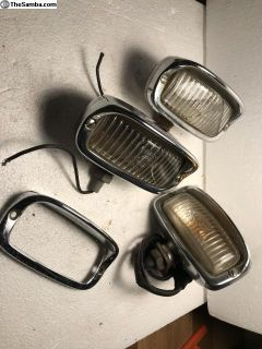 Lot of Hooded Reverse lights parts Hella