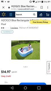 Inflatable pool for daughters bday