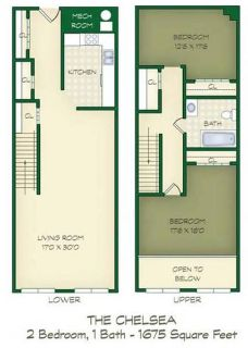 2 Beds - Lofts at the Mills