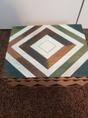Storage box. Used for cards at a baby shower