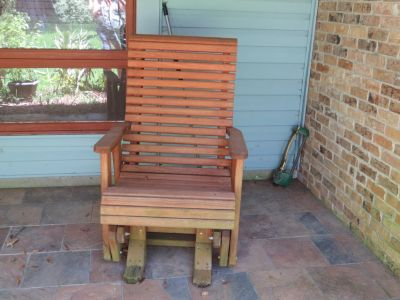 Large wood rocker gliders chairs