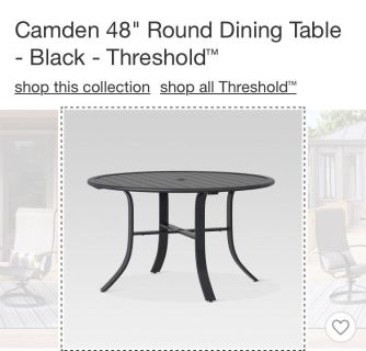 Patio table 48 inches
