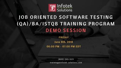 Career Transforming Software Testing, QA/BA , ISTQB Training Program in Herndon