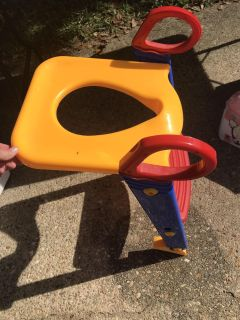 Potty chair with step