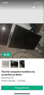 Two hp computer monitors