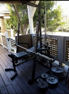 Bench weights with a bar