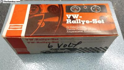 NOS German Motometer Rallye Gauge Pack 6volt Radio