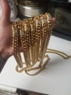 cuban link, stainless steel, not chain colors...
