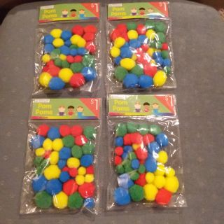Craft Pom Poms - 40 Pieces - New in Package