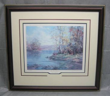 ART - Charles Vickery - The Four Seasons - Autumn Reflection - Matted & Framed Print