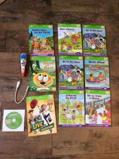 Leap frog reading pen (toy story3 not a real ink pen but a reader,with 8 books ,1- game/introduction book (toy story3) no computer required.