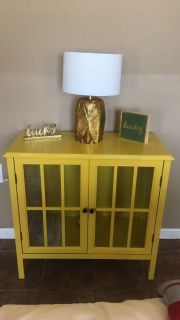 Mustard Color Accent Table.