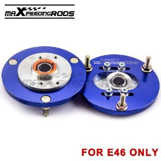 Sell Coilover Camber Plate Pair For BMW E46 320 323 325 328 M3 Front Top Mount Blue motorcycle in Rowland Heights, California, United States